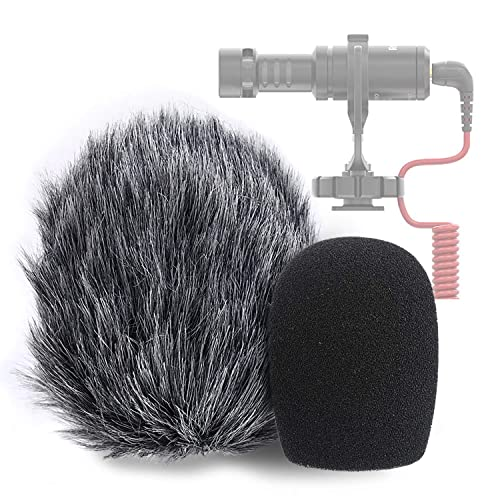 """Movo WS-G2 Wool Furry Windscreen Cover for Medium Microphones up to 3/"""" X 80mm"""
