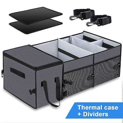 KRADA Auto Car Cargo Trunk Organizer for Mercedes Benz AMG Black Oxford Collapsible Portable Multi Compartments Storage Container Trunk Organizer