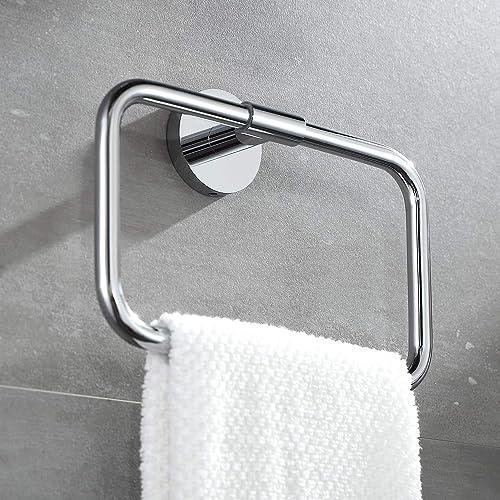 Buvelot 077050 Cr Leo Brass Bathroom Hand Towel Ring Wall Mount