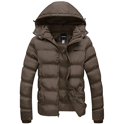 Wantdo Womens Thick Winter Coat Quilted Puffer Jacket with Removable Hood