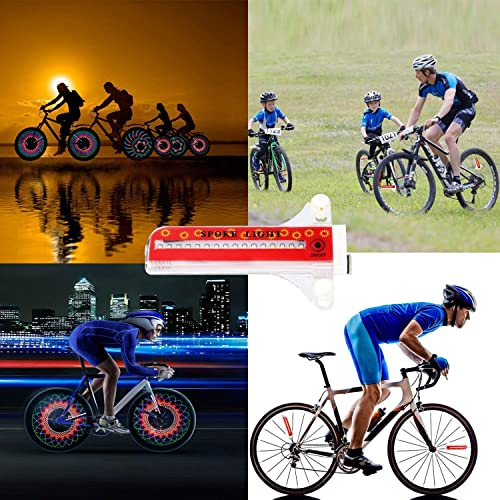 32LED RGB Waterproof Bike Bicycle Riding Changing Wheel Flash Light for Night US