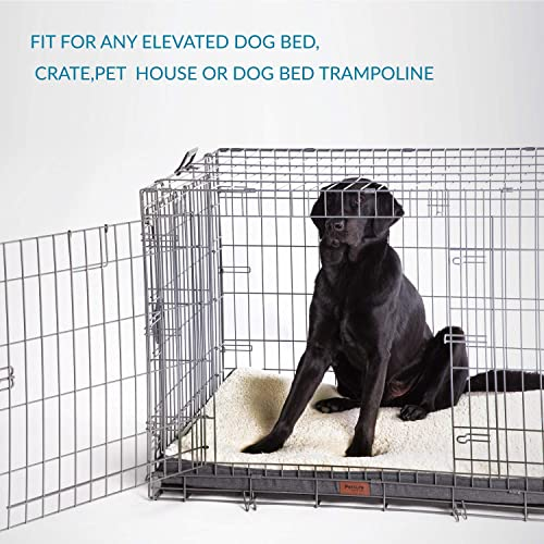 M//L//XL Large Dogs Up to 50//75//100lbs Grey//Denim Blue Medium Water-Resistant Chew-Resistant Pet Mat Orthopedic Egg-Crate Foam with Removable Washable Cover for Small Bedsure Large Dog Bed