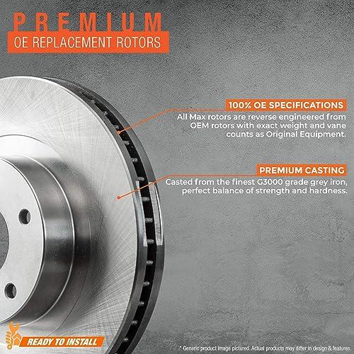 For 2012 2013 2014 2015 Hyundai Veloster Front Drilled Brake Rotors Ceramic Pads