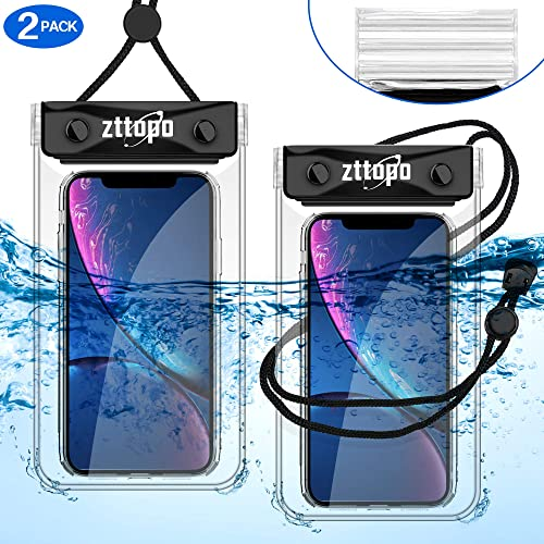 GLBSUNION Universal Waterproof Case Phone Pouch for Beach Kayaking Travel Bath /… 2 Pack IPX8 Waterproof Phone Pouch Dry Bag with Neck Strap for iPhone 12 11 Pro Xs XR Max X SE Plus Galaxy up to 6.8