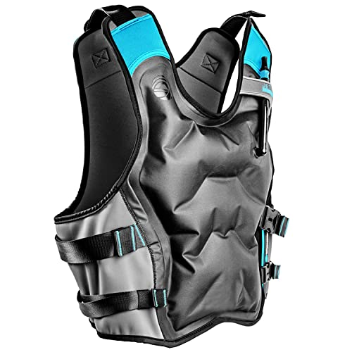 Secure Lock and Comfort Fit Premium Snorkel Jacket for Adults Features Balanced Flotation Jetty Inflatable Snorkel Vest Paddle-boarding and Other Low Impact Water Sports. Perfect For Snorkeling
