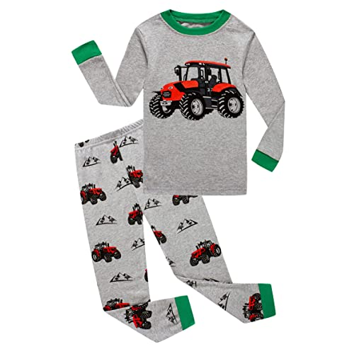 Family Feeling Truck Little Boys Kids Pajamas Sets 100/% Cotton Pjs Toddler