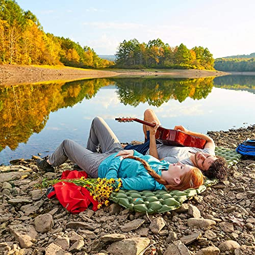 BIGTREE Camping Sleeping Pad 40D Nylon Large Air Mattress Sleeping Pads for Backpacking Ultralight Inflatable /& Compact Hiking Air Mattress Orange