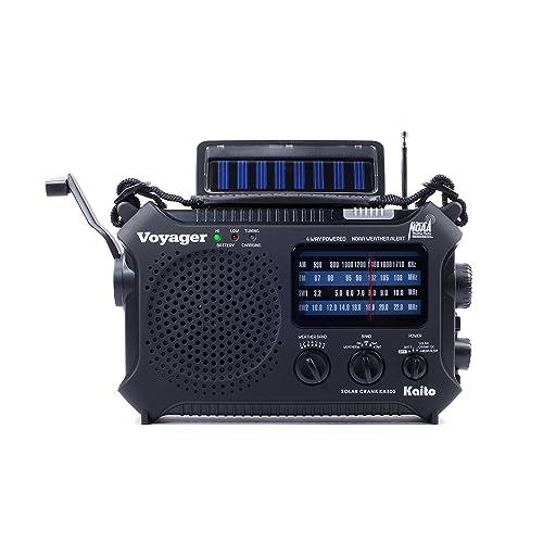 KA600 BLACK Solar//Crank AM//FM//SW NOAA Weather Radio Bonus Reel Antenna 5-LED reading lamp BONUS AC adapter//charger 3-LED flashlight /…