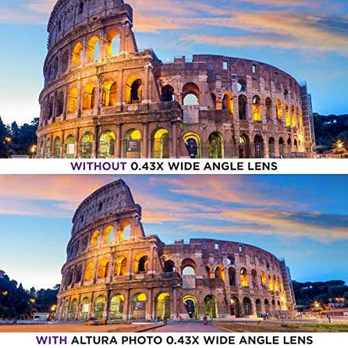 w//Macro Portion 58MM 0.43x Altura Photo Professional HD Wide Angle Lens for Canon EOS 70D 77D 80D Rebel T7 T7i T6i T6s T6 SL2 SL3 DSLR Cameras