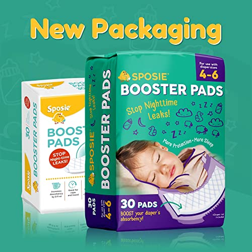 Sposie Booster Pads Diaper Doubler 3 Packs of 30 Pads 90 Count