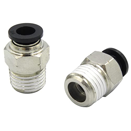 """10Pcs Pneumatic Male Elbow Connector Air Push In Fitting Tube 6MM NPT 1//8/"""""""