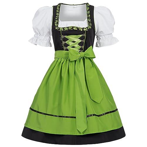 Womens German Dirndl Dress Costumes Bavarian Oktoberfest Carnival Halloween
