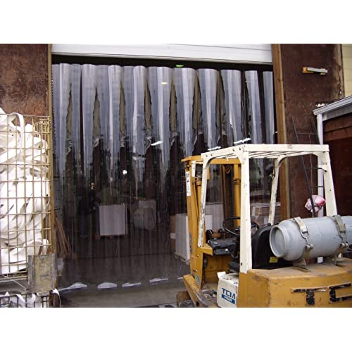 Strip-Curtains.com: Strip Door Curtain 3 ft width X 80 in. 36 in. Stainless Steel Hardware LOW TEMP smooth 8 in height 6ft 8 in strips with 50/% overlap
