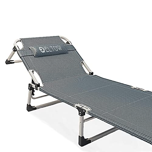 Cot Bed Beach Pool Outdoor Sun Durable Folding Chaise Lounge Recliner Patio Camping Chair Fold