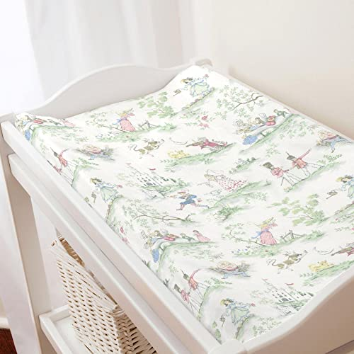 Carousel Designs Bubblegum Pink and Navy Woodland Floral Crib Sheet Organic 100/% Cotton Fitted Crib Sheet Made in The USA