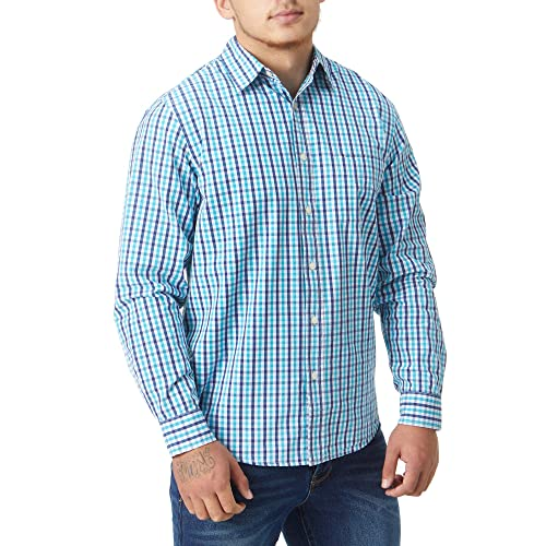 Rydale Mens 100/% Cotton Country Checked Summer Short Sleeve Gents Check Pattern Shirts