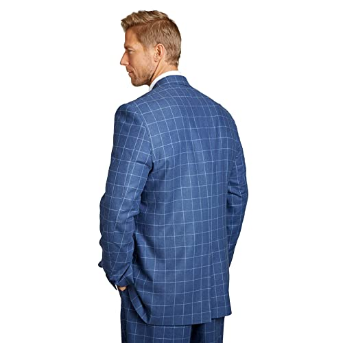 Kingsize Signature Collection Mens Big /& Tall Linen Blend Two-Button Suit Jacket