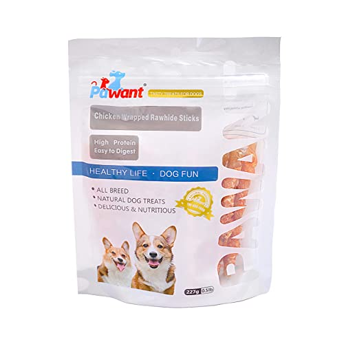 Pawant Puppy Training Snacks Dog Chews Treats Chicken Wrapped Rawhide