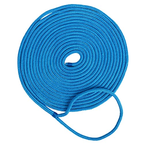 "2 x Boat Dock Line 100/% Double Braided Nylon Dock Line 3//8/"" 16.5FT Marine Ropes"