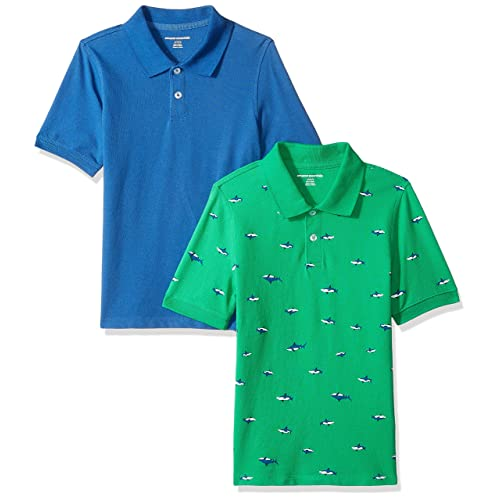 Essentials Boys Short-Sleeve Uniform Pique Polo