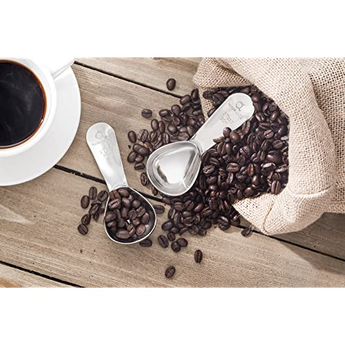Stainless Steel Coffee Measure And Bag Clip Coffee Clip Spoon For Ground Coffee And Beans Rubywoo/&chili 2 Pack Coffee Scoop Clip