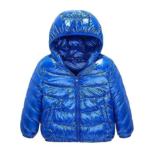 Happy Cherry Toddler Snowsuit Winter Puffer Warm Down Coat Thicken Hoodie Outwear Lightweight Windproof Jacket 2-7T