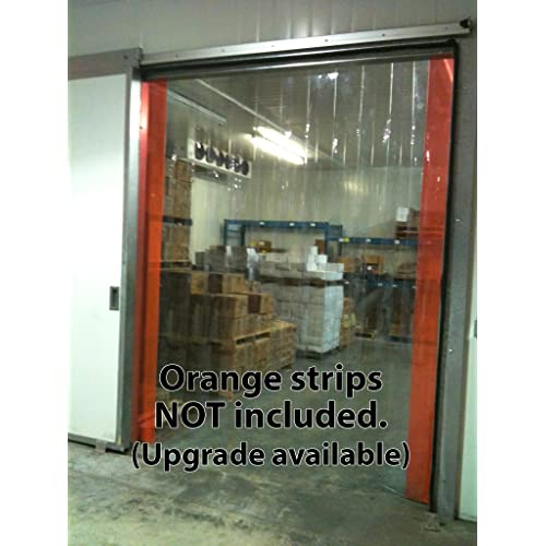 BestEquip Plastic Strip Curtain 49 Feet Length X 7.8 Inches Width Vinyl Door Strips 1 Roll Strip Curtain 0.08 Inch Thickness Clear Curtain Strip for Freezer Doors Warehouse