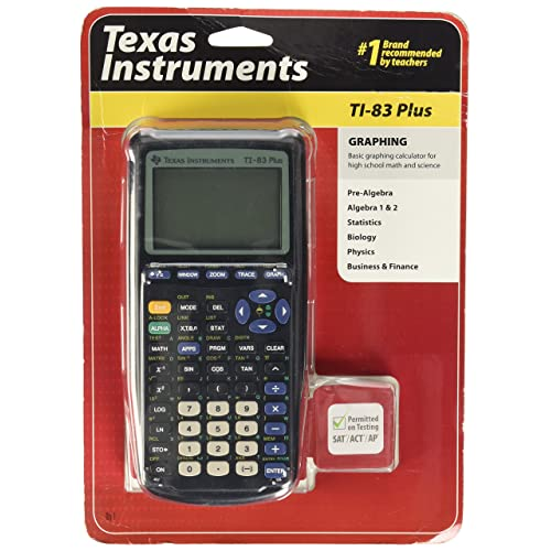 Certified Reconditioned Texas Instruments TI 84 Plus Graphing Calculator with Guerrilla Military Grade Screen Protector Set