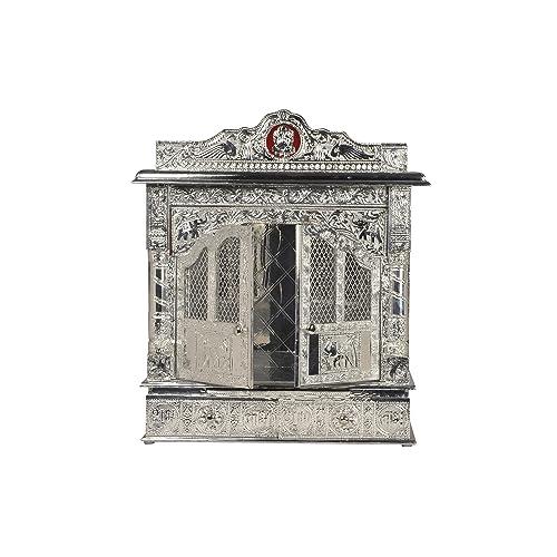 Buy Desi Bazar Pure Silver Mandir Home Pooja Temple Mandap Altar Indian Puja Mandir For Home 22 Inches Online In Taiwan B07gvthyk7