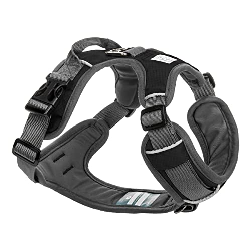 Easy On and Off with Front and Back Leash Attachments /& Control Handle Size Adjustable and Non Choke Large, Maverick No Pull Training Embark Urban Dog Harness