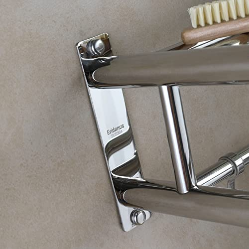 304 Stainless Steel Bathroom Double Towel Bar Rail Rack Holder Wall Mounted 22/""