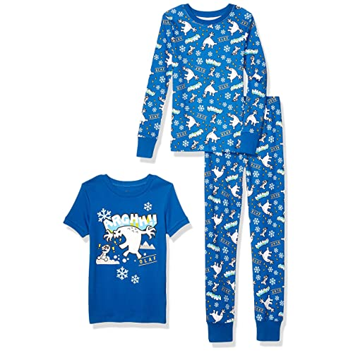 Toddler Spotted Zebra Baby and Kids 4-Piece Snug-fit Cotton Pajama Short Set Brand