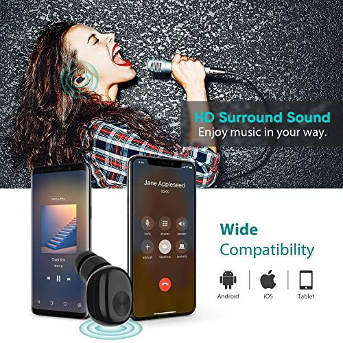Bluetooth Earbud Ownta Wireless Headphones With Light Charging Case Headset Single Earbud Compatible Smartphone Iphone 6 7 8 Plus X Ipad Samsung Android 12 Formtech Inc Com