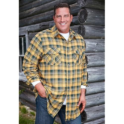 KingSize Mens Big /& Tall Wrinkle-Resistant Plaid Shirt