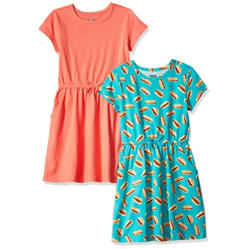 Brand Spotted Zebra Girls Toddler /& Kids 2-Pack Knit Short-Sleeve A-Line T-Shirt Dresses