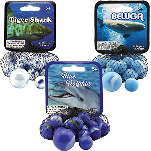 Mega Marble SUN MARBLE NET 24 Player Marbles /& 1 Shooter Marble