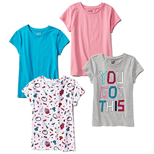 Spotted Zebra  Brand Boys 4-Pack Short-Sleeve V-Neck T-Shirts