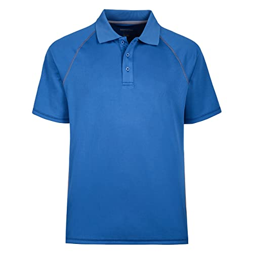 Style by William Mens Solid Short Sleeves Basic Dry Performance Comfort Polo Shirt XS~3XL
