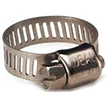 Pack of 10 Ideal Tridon 6712M51#12 Stainless Steel Worm Drive Clamp with 316 Stainless Steel Screw 67M Series 11//16 to 1-1//4 Diameter 9//16 W