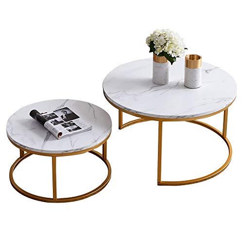 Knowlife Modern Nesting Coffee, Nesting Coffee Tables Round