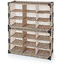 Amazon.com: Origami R-FSR-12-B 12-Shelf Foldable Shoe Rack, Fabric ... | 218x218