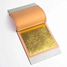 25 Sheets Booklet Genuine Gold Leaf Sheets 23.75k 3.1 inches Loose Leaf by Barnabas Blattgold