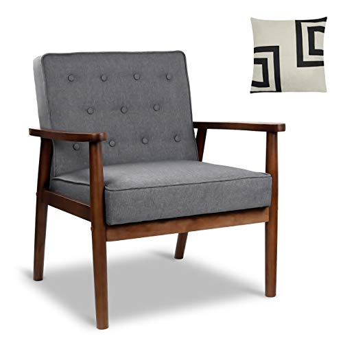 Mid Century Retro Modern Accent, Occasional Chairs With Wood Arms