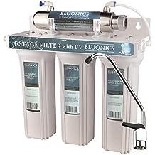 "BLUONICS Big Blue Carbon Block Water Filters 4pcs Standard 4.5/"" x 20/"" Cartridges"