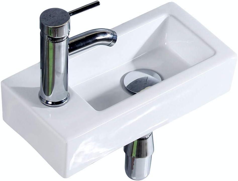 Gimify Bathroom Corner Sink Mini, Wall Mount Sinks For Small Bathrooms