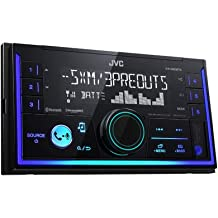 Black JVC KD-R370 Single DIN in-Dash CD//AM//FM//Receiver with Detachable Faceplate