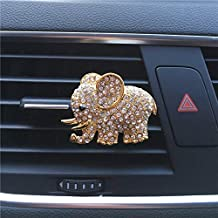 US Warehouse Full Gold FOLCONROAD Auto Diamond Elephant Car Air Conditioning Outlet Clip Decorative