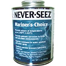 Brush Top Can by Never-Seez Never-Seez NSSBT-16 Silver 16 High-Temperature Stainless Anti-Seize Lubricating Compound oz 16 fl