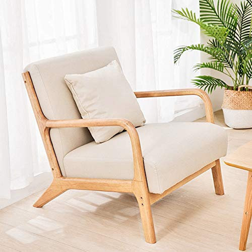 Joybase Lounge Arm Chair Mid, Accent Chairs With Wooden Arms