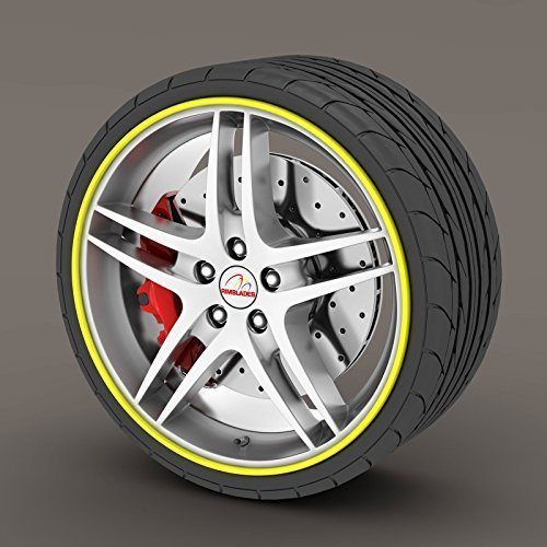 Buy Rimblades Alloy Wheel Edge Ring Rim Protectors Tyres Tire Guard Rubber Moulding Yellow Rimblades Online In Taiwan B00zubmauw